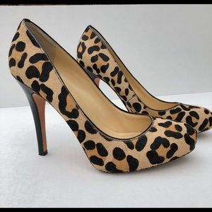 Ivanka Trump Animal Cheetah Leopard Black Heel 10